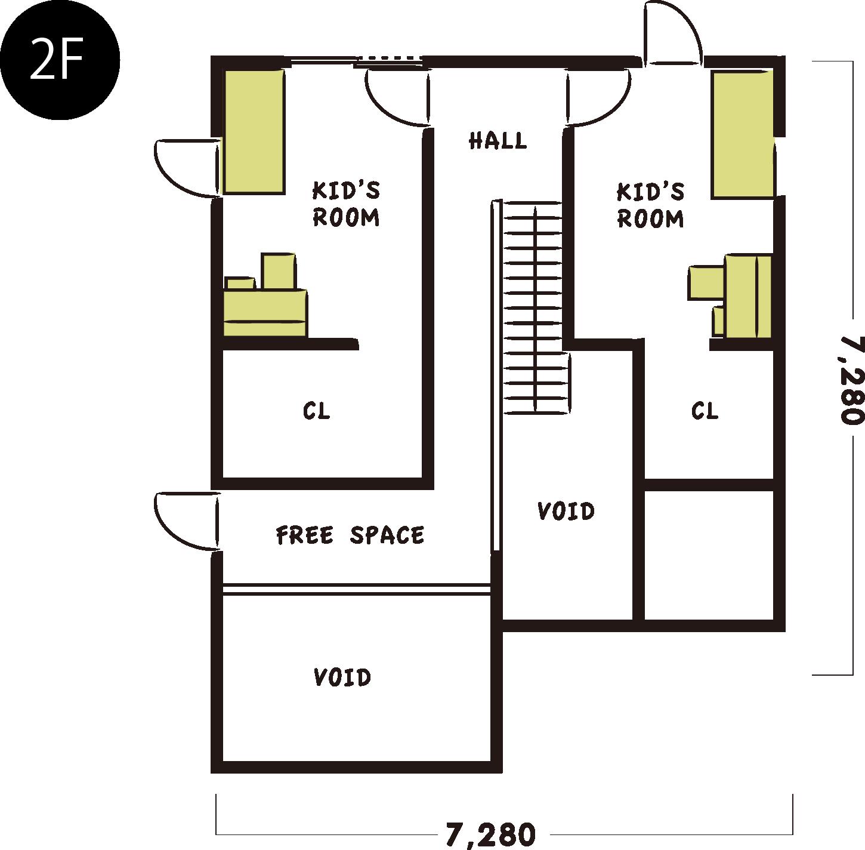 間取り図F2